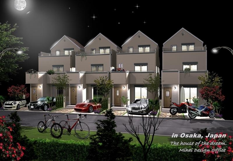 夜景建築パース・夜景外観パース