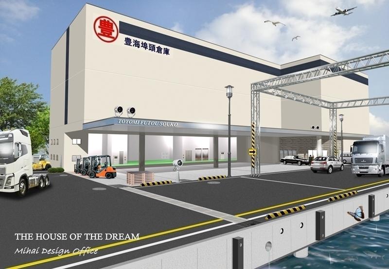 倉庫建築パース・倉庫外観パース