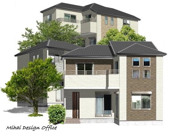 建売分譲住宅建築パース
