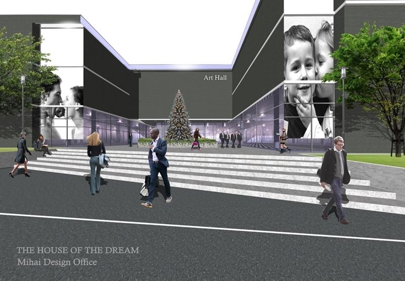 芸術劇場建築パース