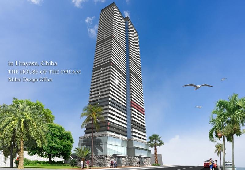 高層マンション建築パース・高層マンション外観パース