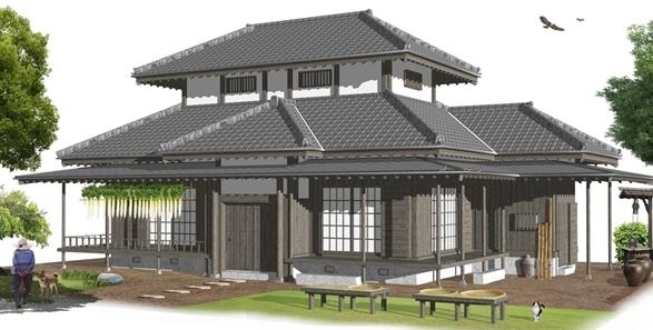 古民家建築パース