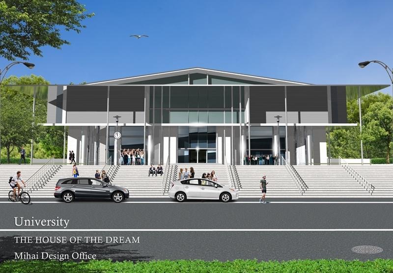 大学校舎建築パース