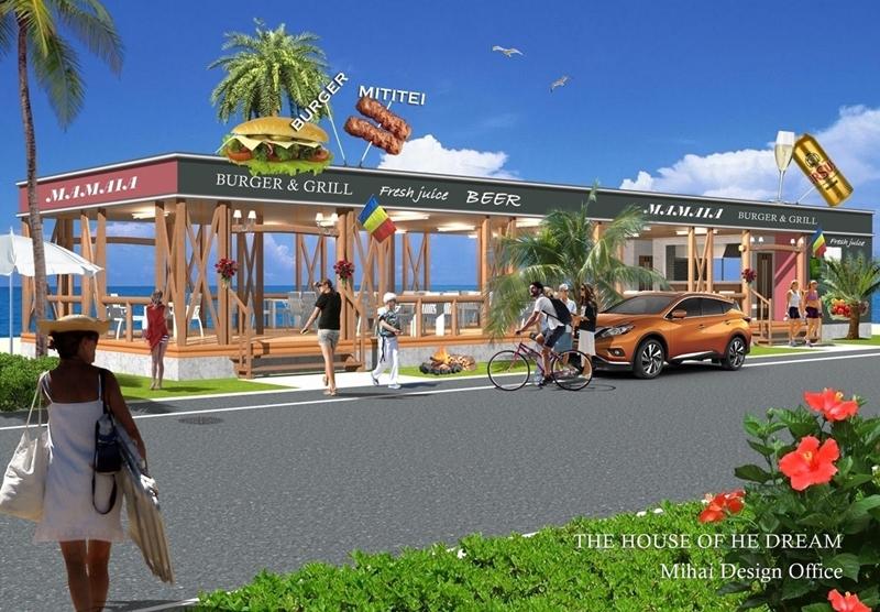 レストラン建築パース・レストラン外観パース