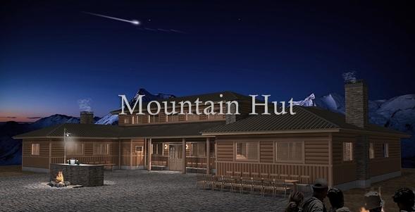 山小屋・山荘外観パース