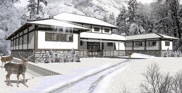 雪国の家・外観パース
