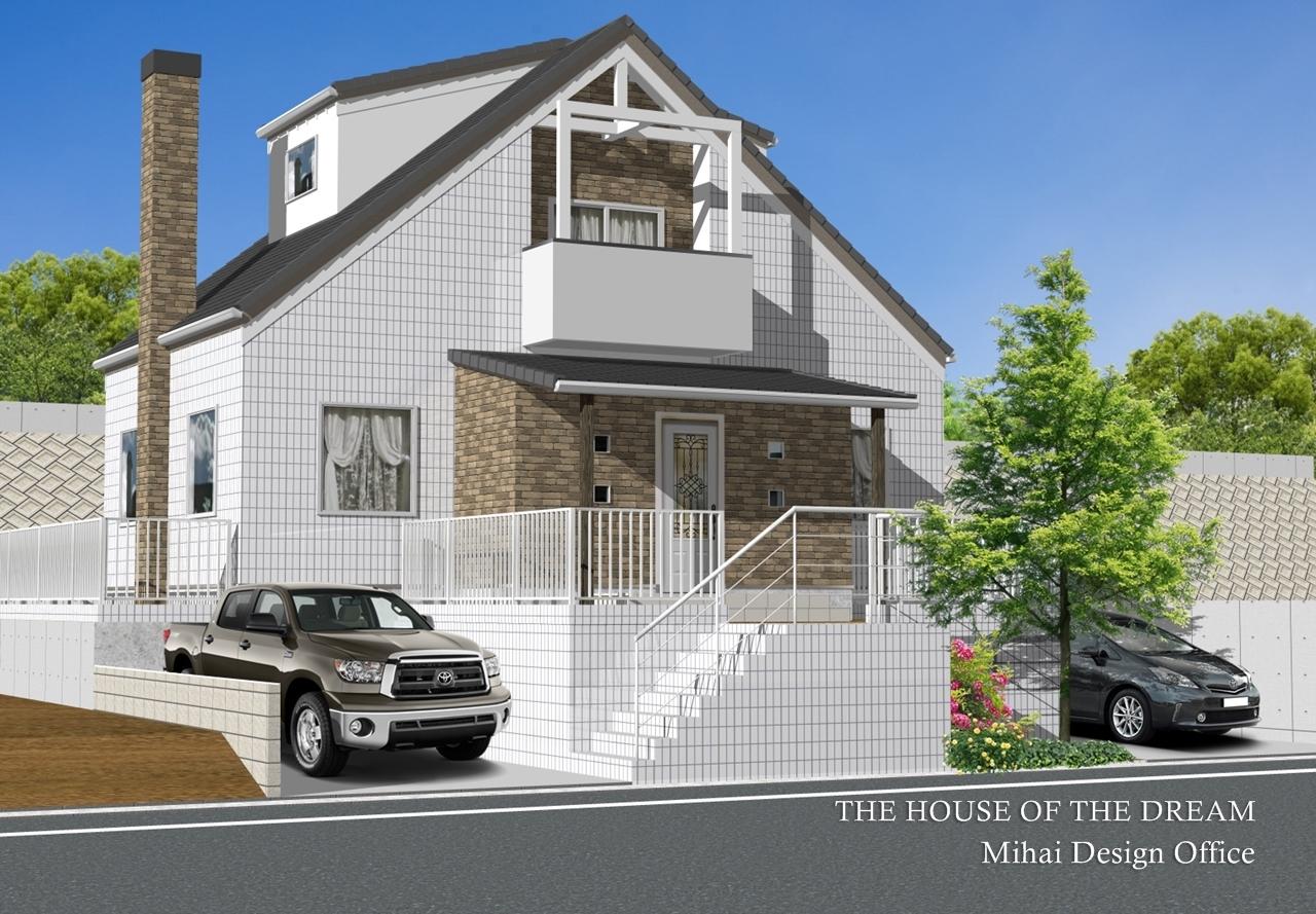 ヨーロピアンスタイルの家建築パース
