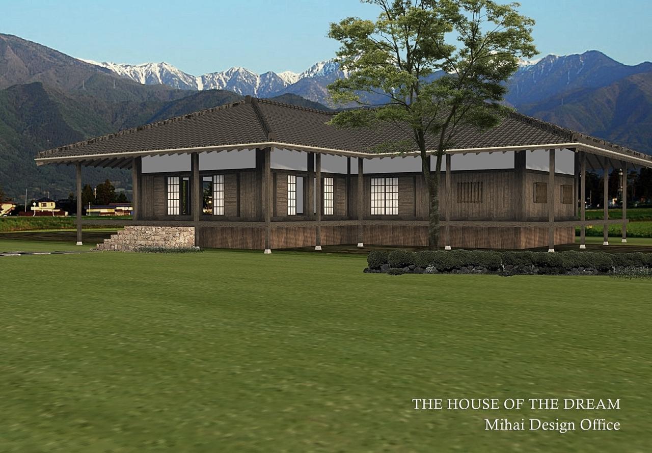 田舎の家建築パース