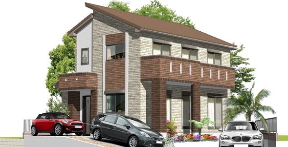 洋風の家建築パース