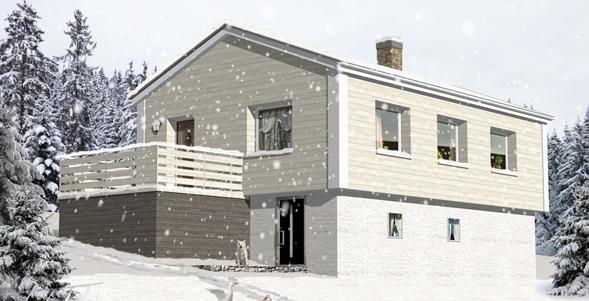 外断熱工法建築パース