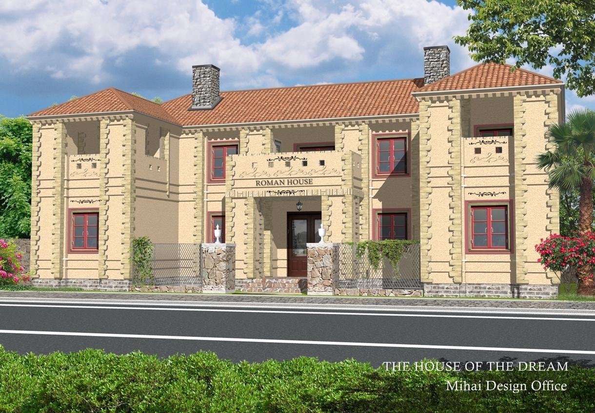 東欧の家建築パース/東欧の家外観パース