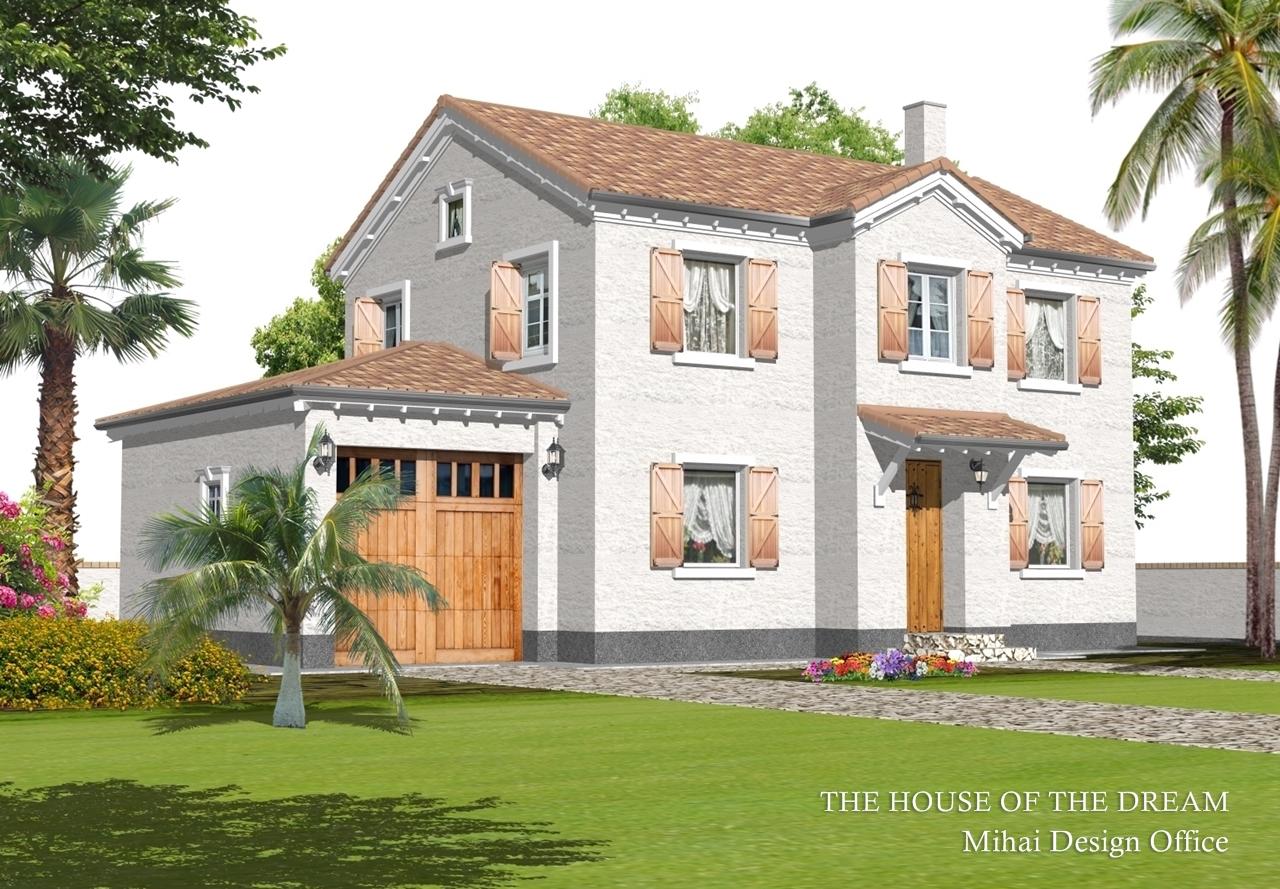 フランスの家建築パース