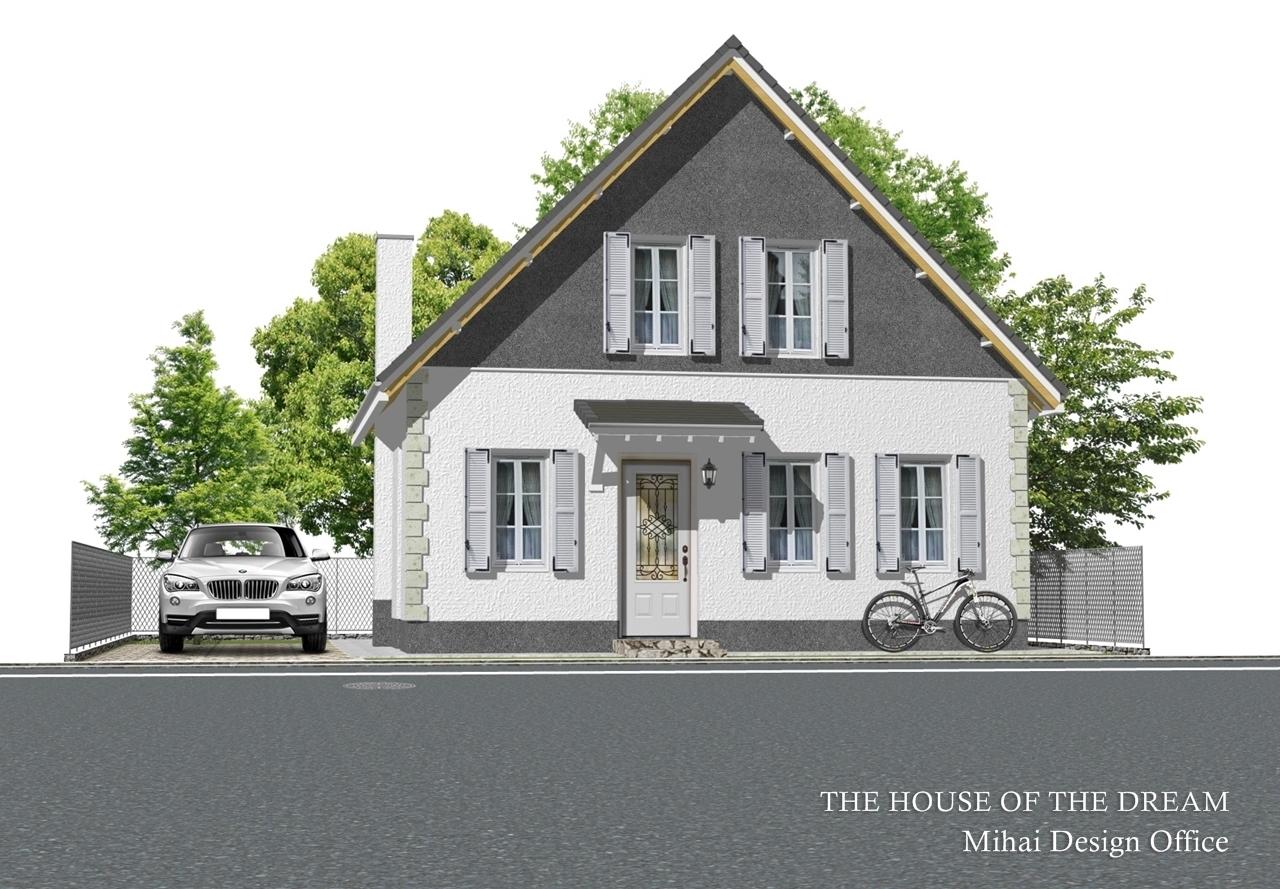南欧の家建築パース