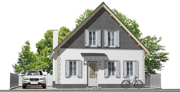 南欧の家建築パース・南欧の家外観パース