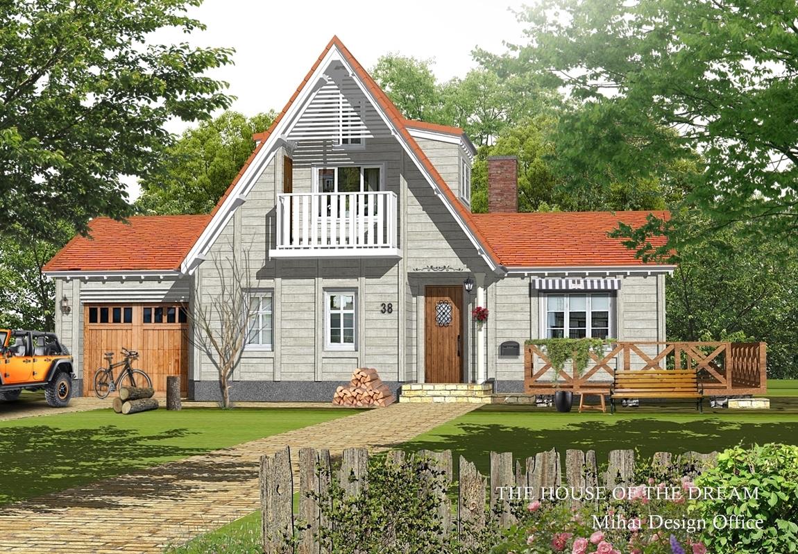 北欧の家建築パース