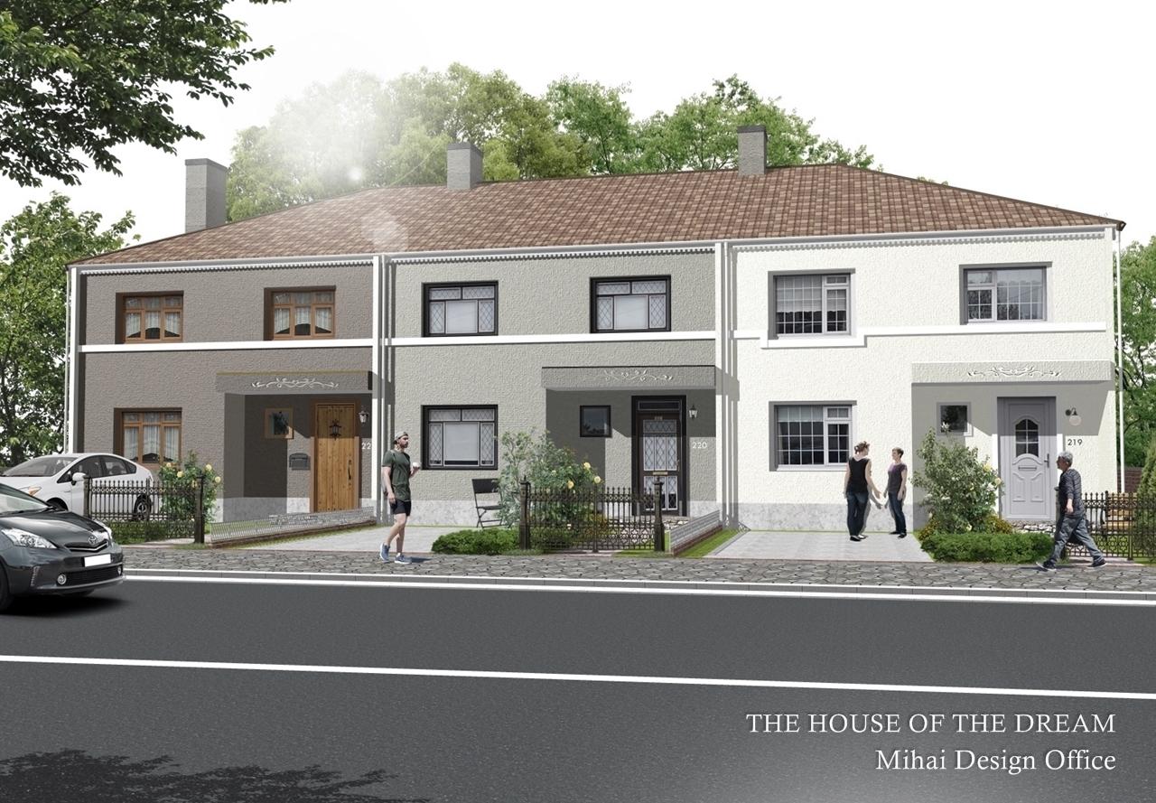 ヨーロッパの家建築パース